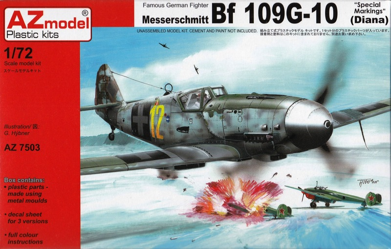"AZ-7503-Bf-109G-10-Special-Markings-1 Bf 109 G-10 ""Special Markings"" von AZ Model im Maßstab 1:72"