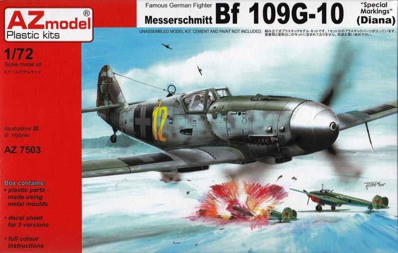 "AZ-7503-Bf-109G-10-Special-Markings-1 Bf 109 G-10 ""Special Markings"" von AZ Model im Maßstab 1:72"