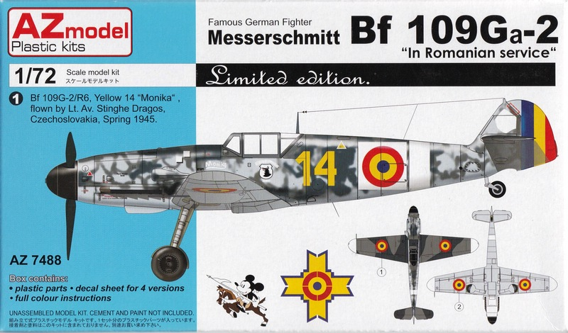 AZ-Model-7488-Bf-109-G-2-Rumänien-1 Messerschmitt Bf 109 Ga-2 in Romanian service (AZ Model 7488)