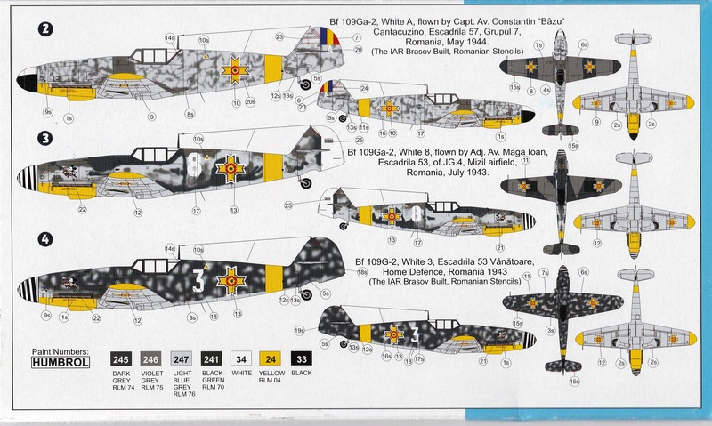 AZ-Model-7488-Bf-109-G-2-Rumänien-2 Messerschmitt Bf 109 Ga-2 in Romanian service (AZ Model 7488)