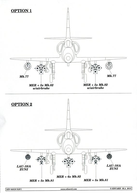Armament A-4E/F Scooter armament set von Eduard im Maßstab 1:48