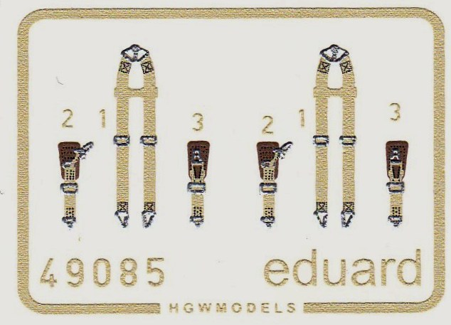 Eduard-49085-Seatbelts-Luftwaffe-SUPERFABRIC-2 Eduard 1:48 Seatbelts Luftwaffe Bombers SUPERFABRIC