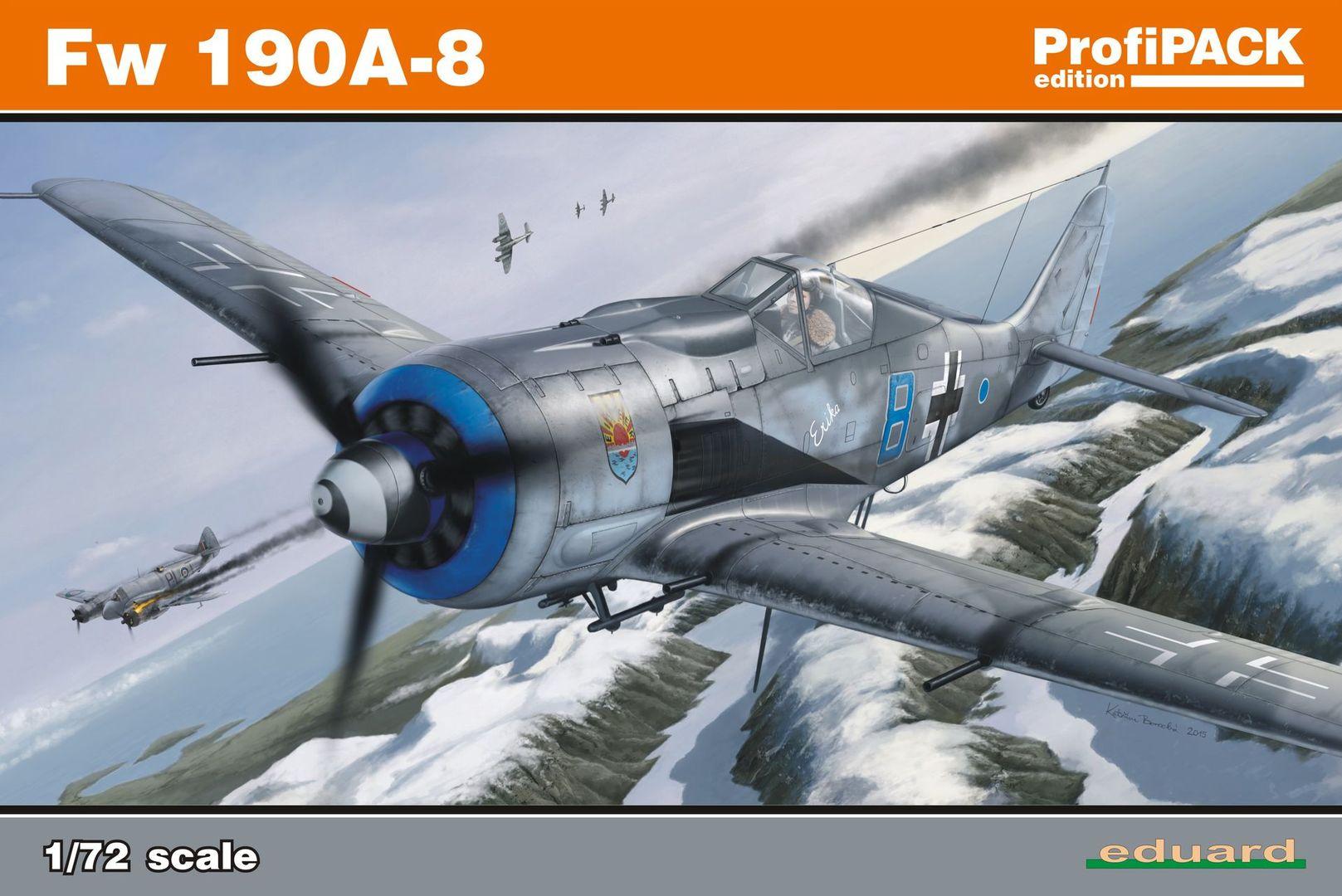 Eduard-70111-FW-190-A-8-50 FW 190 A-8 im Maßstab 1:72 von Eduard