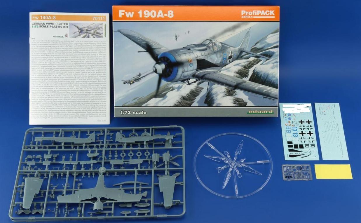 Eduard-70111-FW-190-A-8 FW 190 A-8 im Maßstab 1:72 von Eduard