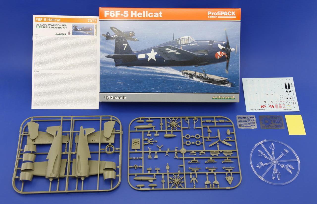 Eduard-7077-F-6F5-Hellcat-1zu72-1 F6F-5 Hellcat von Eduard im Maßstab 1:72