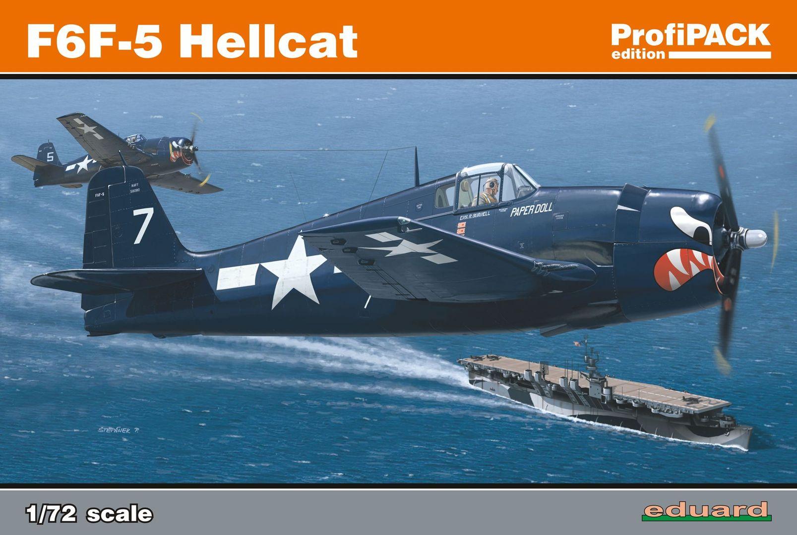 Eduard-7077-F6F-5-Hellcat-Deckelbild F6F-5 Hellcat von Eduard im Maßstab 1:72