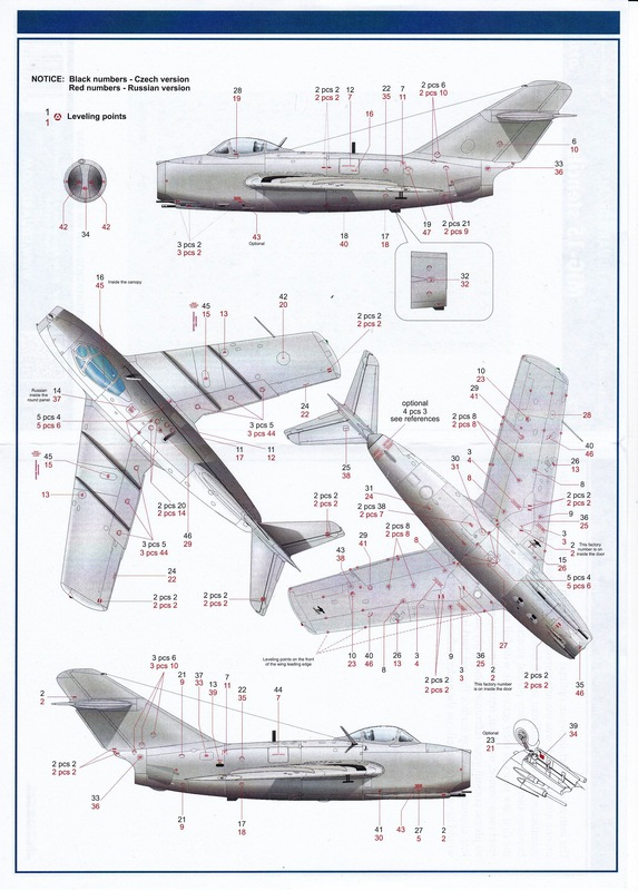Eduard-72007-MiG-15-stencils-2 MiG-15 Wartungshinweise von Eduard im Maßstab 1:72