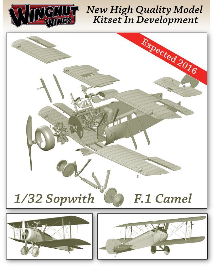Sopwith-Camel-in-development-August-2015 Wing Nut Wings - neue 1:32er Bausätze und Bücher