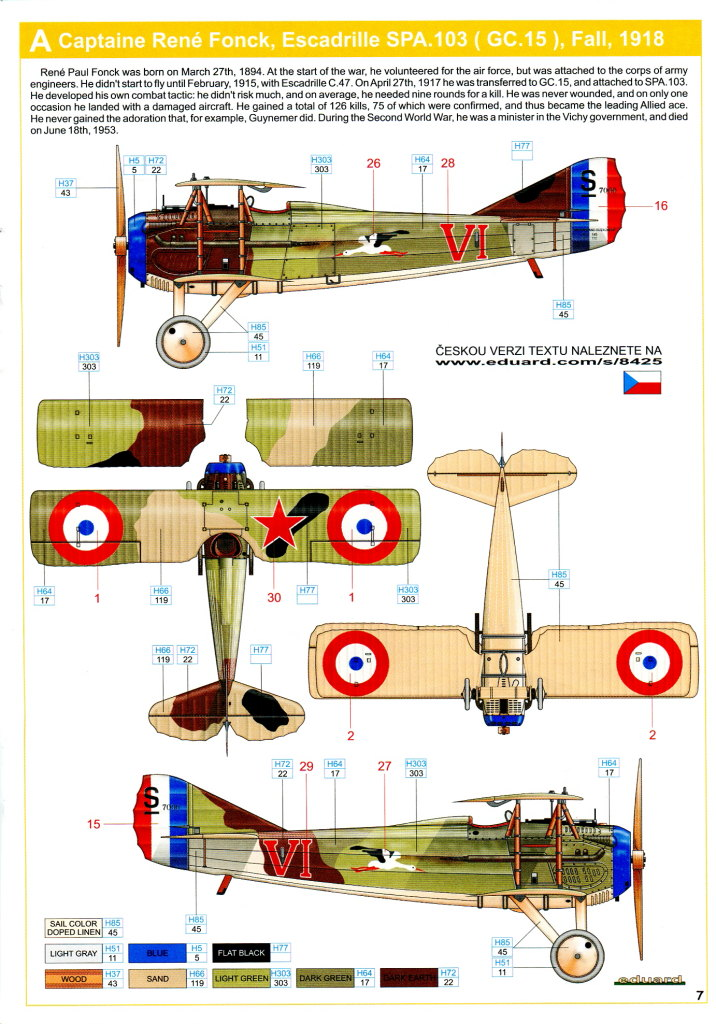 Spad_XIII_19 Spad XIII - Eduard 1/48 Weekend Edition - #8425