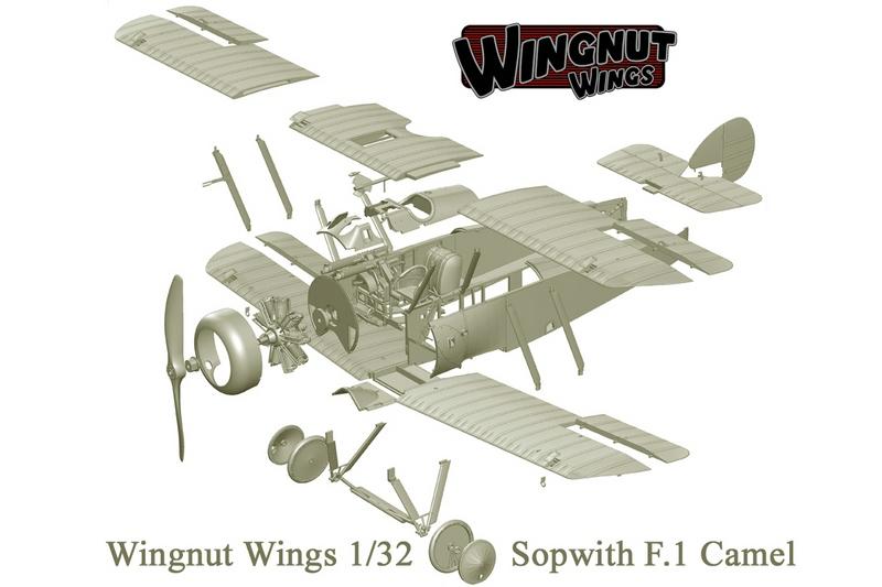 WingNUtWings-Sopwith-Camel Wing Nut Wings - neue 1:32er Bausätze und Bücher