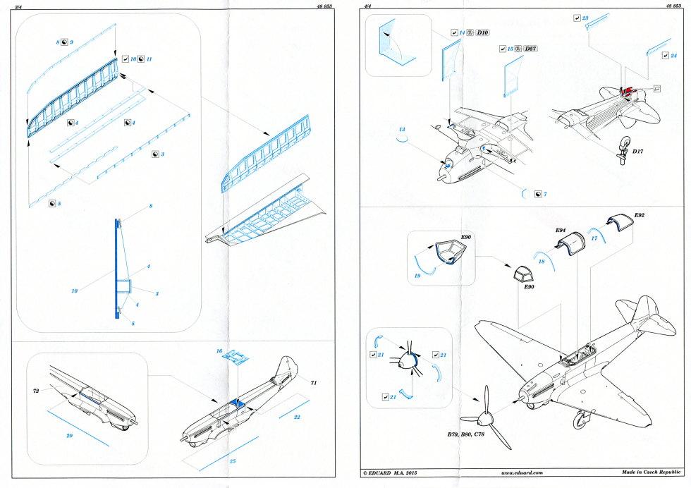 Yak-1b_17 Yak-1b Upgrade Set - 1/48 von Eduard #48853