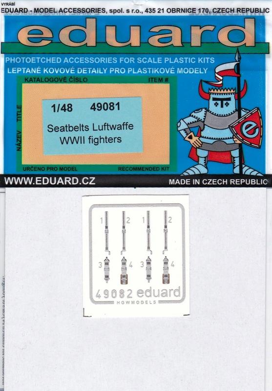 Eduard-49081-Seatbelts-Luftwaffe-Fighters-WW-II-1 Seatbelts Luftwaffe Fighters (Eduard 1:48)