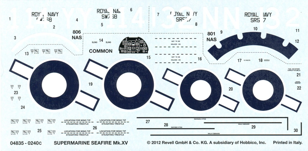 Review_Revell_Seafire_08 Revell Supermarine Seafire Mk. XV - 1/48 - #04835