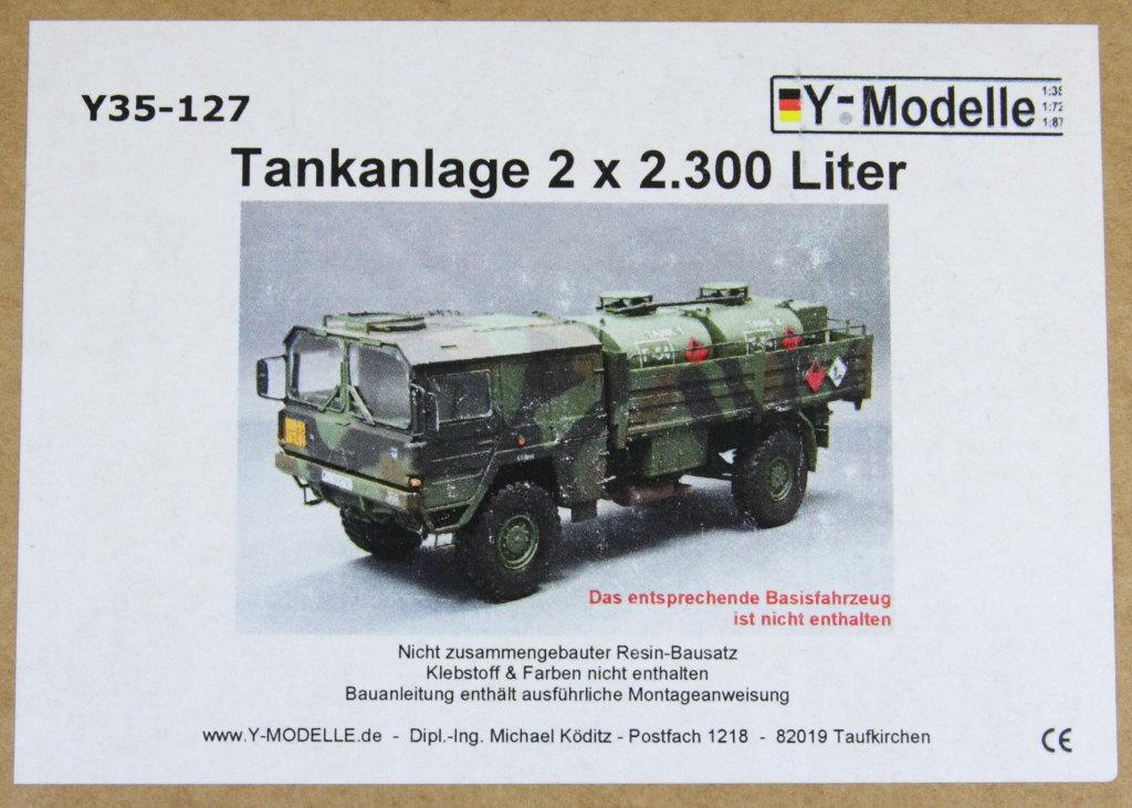 Y_Tankanlage_14 Y-Modelle --- Umbausatz Tankanlage 2 x 2.300 Liter - für REVELL MAN 5t 4x4 - 1/35