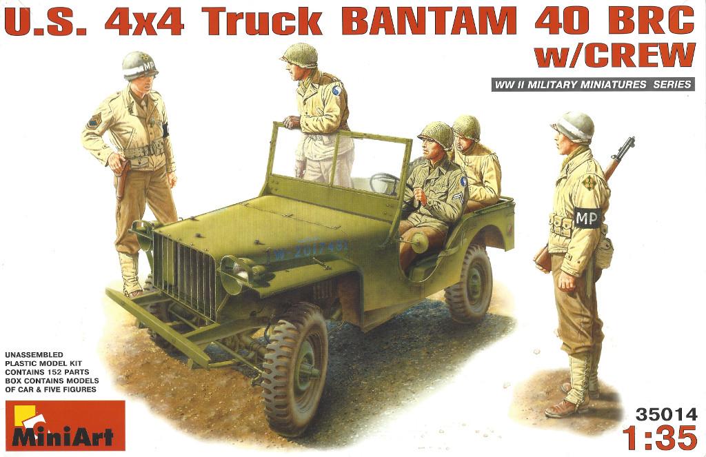 Boxart2 Miniart U.S. 4x4 Truck Bantam 40 BRC w/Crew 1:35