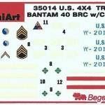 Decals-150x150 Miniart U.S. 4x4 Truck Bantam 40 BRC w/Crew 1:35