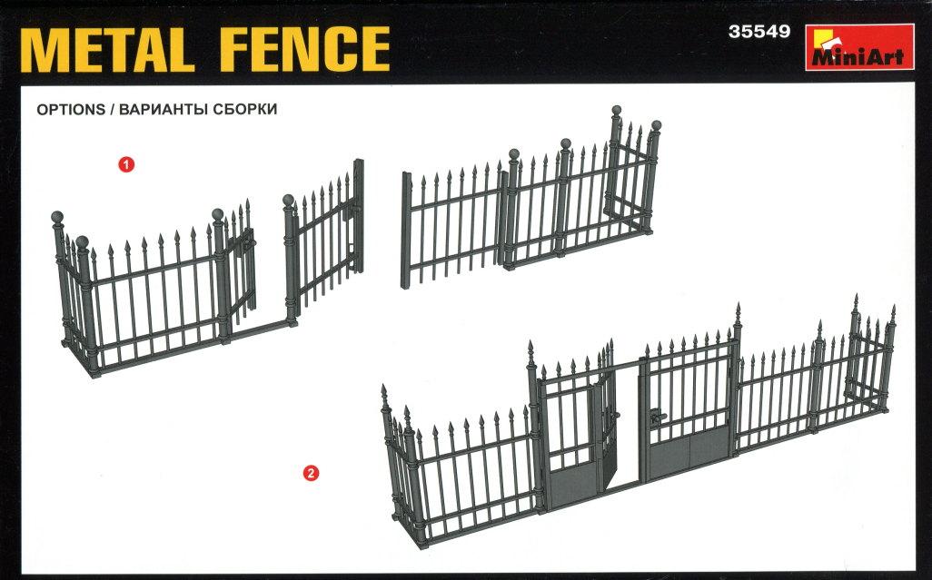 Miniart_Fence_03 MiniArt - Metal Fence - 1/35 --- #35549