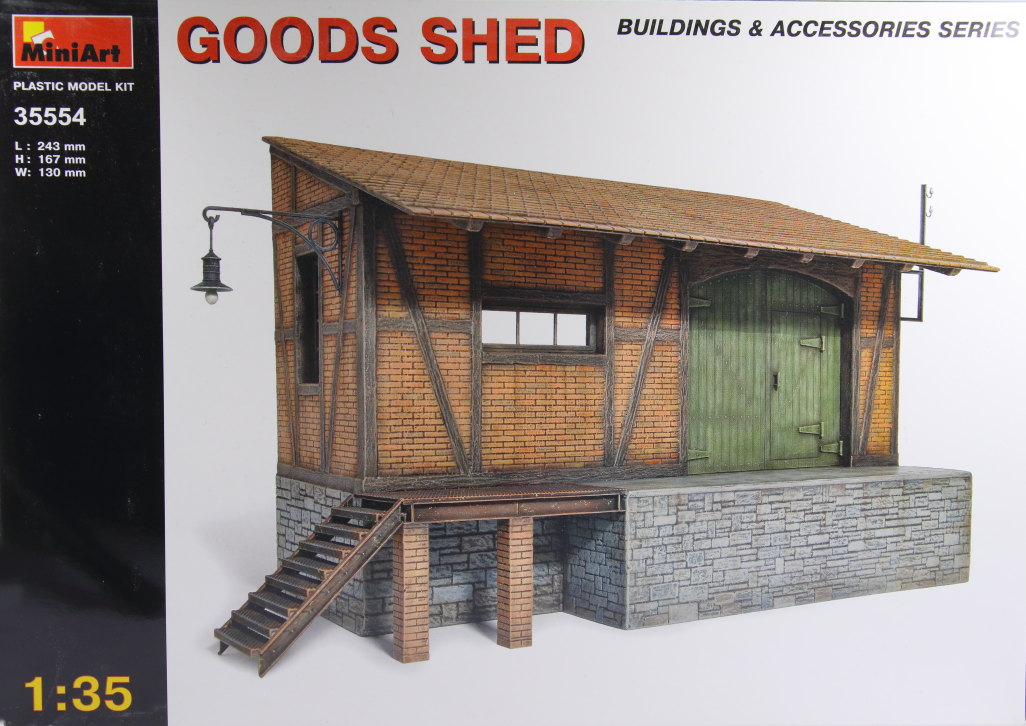Miniart_Goods_Shed_01 MiniArt - Goods Shed - 1/35 --- #35554