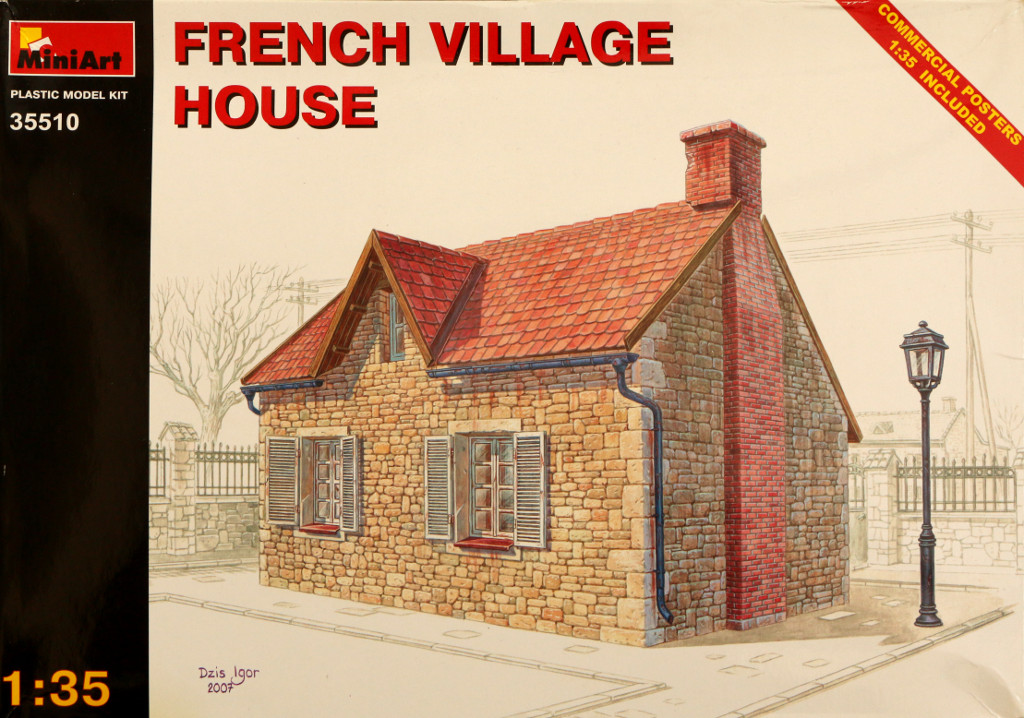 119 French Village House - Miniart 35510 1:35