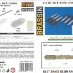 26-150x150 Mk.81 bombs w/airbrakes Eduard 648 225 1:48