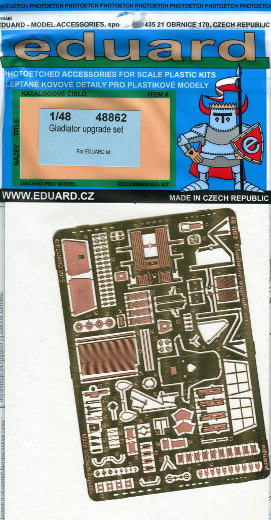 Eduard_Gladiator_Upgrade_03 Gladiator Upgrade Set - 1/48 --- #48862