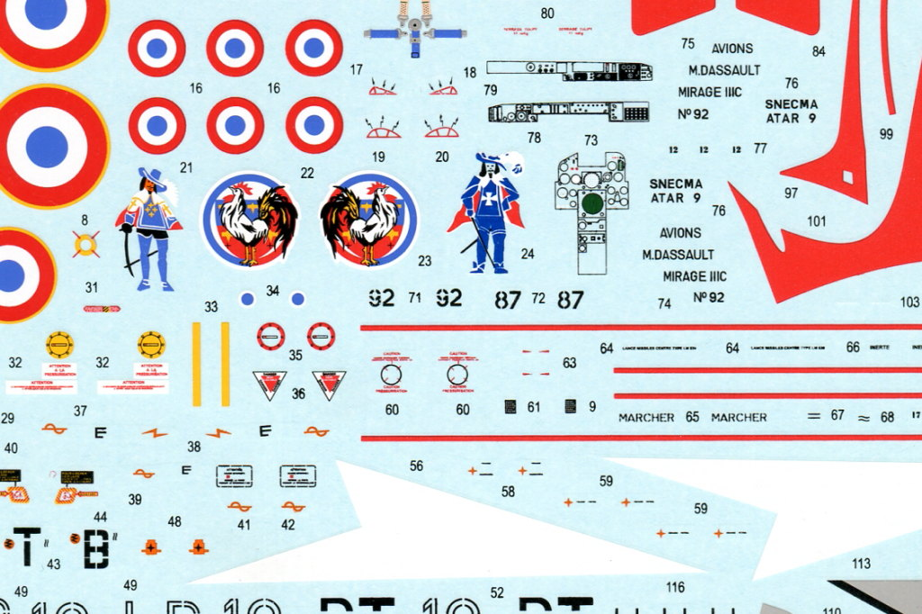 Eduard_MirageIIIC_18 Mirage IIIC - Eduard Weekend Edition - 1/48 --- #8496
