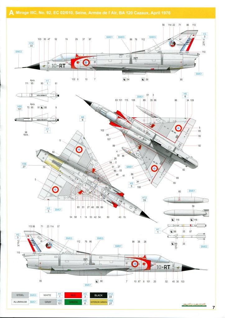 Eduard_MirageIIIC_25 Mirage IIIC - Eduard Weekend Edition - 1/48 --- #8496