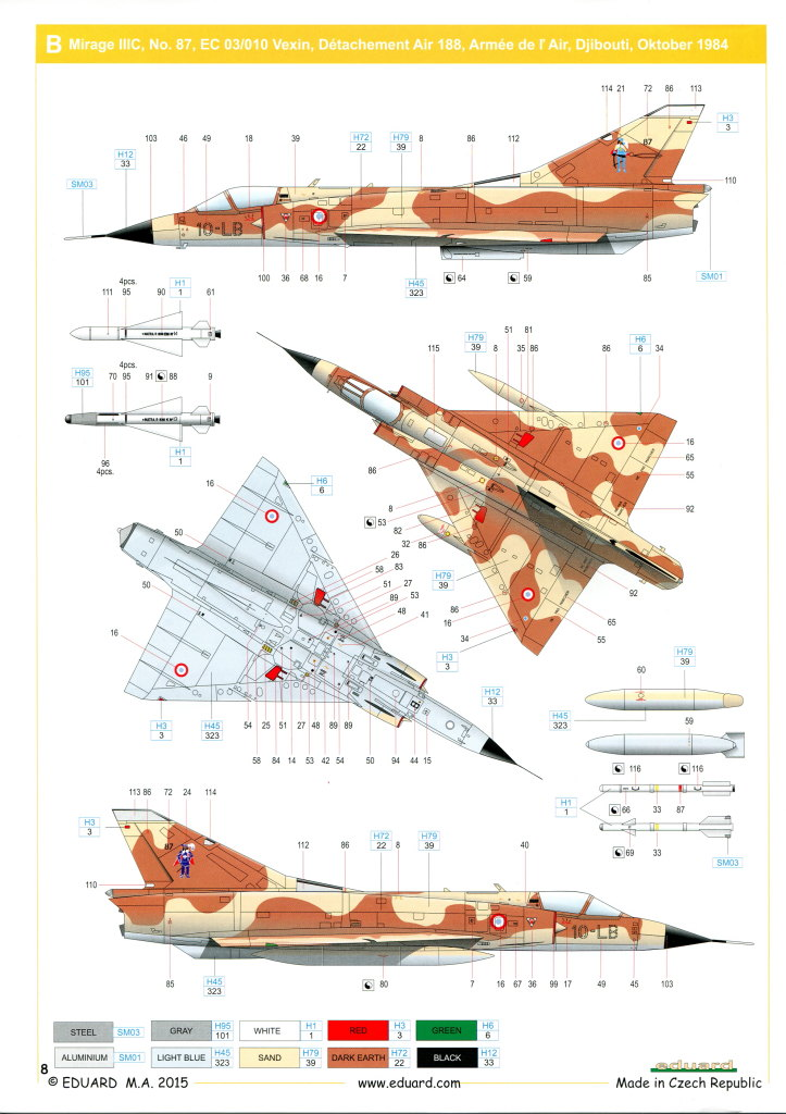 Eduard_MirageIIIC_26 Mirage IIIC - Eduard Weekend Edition - 1/48 --- #8496