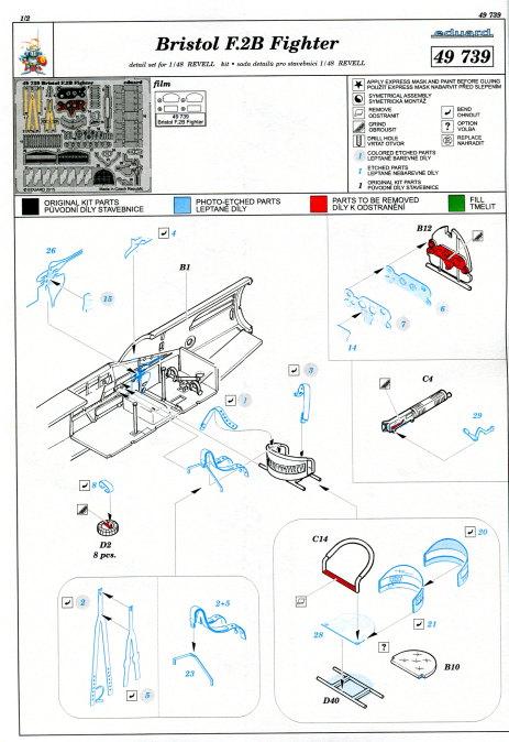 Eduard_Revell_Bristol_Upgrade_04 Upgrade Set für Bristol F2B von Revell - Eduard - 1/48 --- #49739