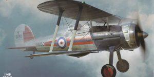 Die neue Gloster Gladiator Mk. I von Merit im Maßstab 1:48