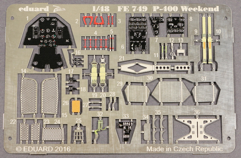 1-11 P-400 Weekend detail set Eduard 1:48 (FE 749)