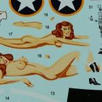 """Decal-2-150x150 P-400 """"Air a Cutie"""" Weekend Edition Eduard 1:48 (8472)"""
