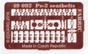 Eduad-49092-Pe-2-seatbelts-FABRIC-4-300x186 Eduard Zubehör für die Petljakov Pe-2 von Zvezda (1:48)