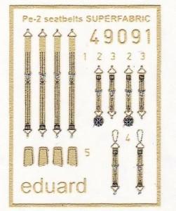 Eduard-49091-Pe-2-Superfabric-Gurte-251x300 Eduard Zubehör für die Petljakov Pe-2 von Zvezda (1:48)