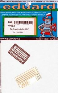 Eduard-49092-Pe-2-seatbelts-FABRIC-188x300 Eduard Zubehör für die Petljakov Pe-2 von Zvezda (1:48)