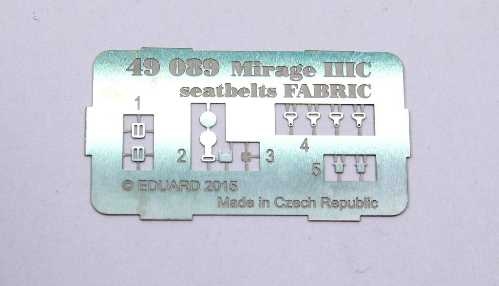 Eduard_MirageIIIC_Fabric_01 Upgrade-Sets für die Eduard Mirage IIIC - 1/48
