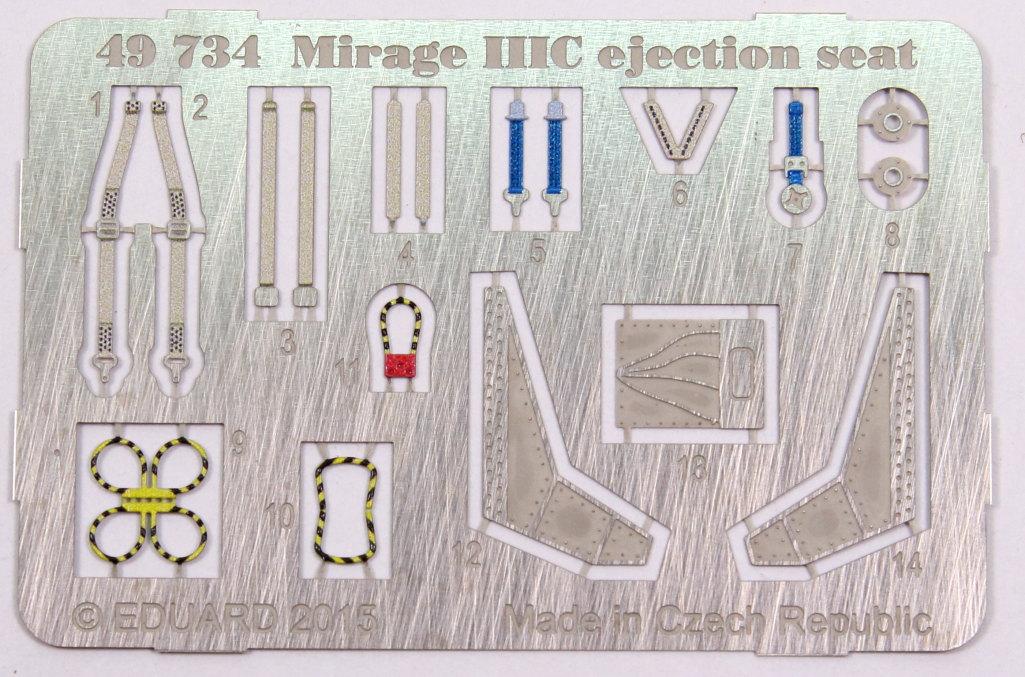 Eduard_MirageIIIC_Seat_01 Upgrade-Sets für die Eduard Mirage IIIC - 1/48