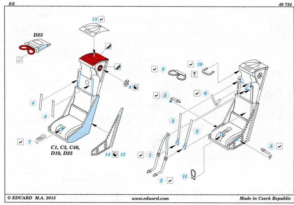 Eduard_MirageIIIC_Seat_03 Upgrade-Sets für die Eduard Mirage IIIC - 1/48