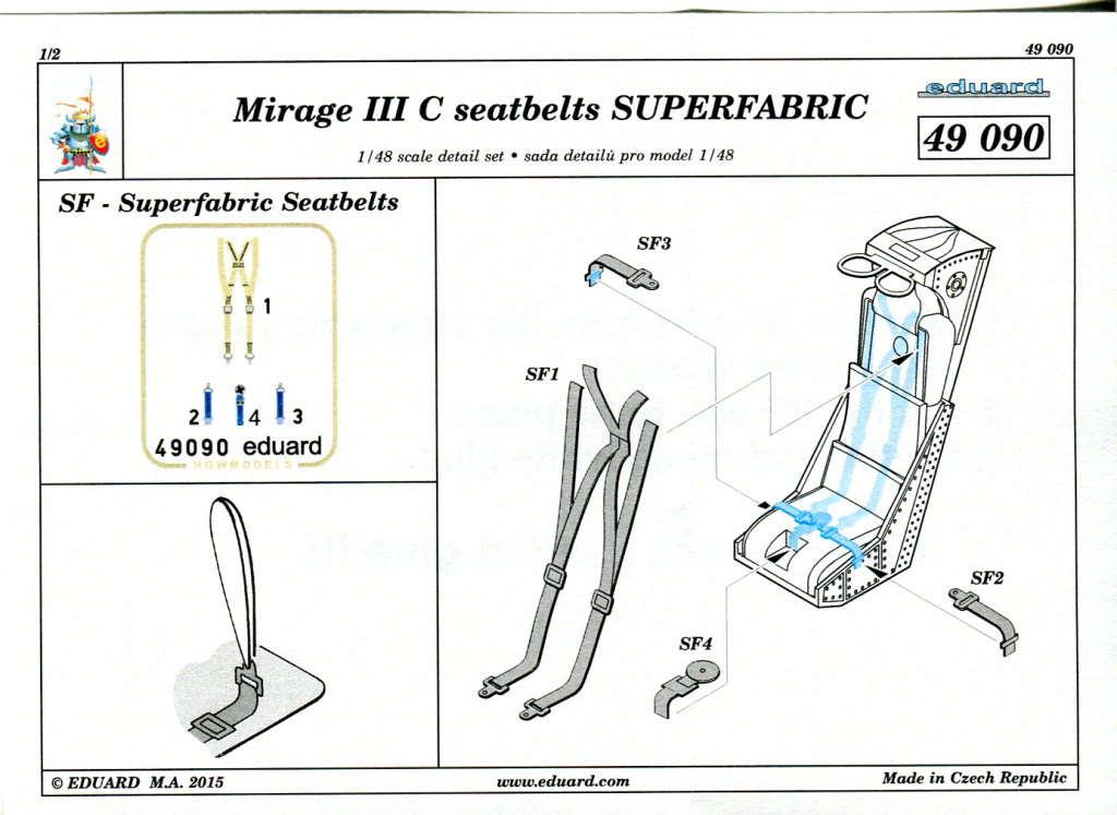 Eduard_MirageIIIC_Super-Fabric_04 Upgrade-Sets für die Eduard Mirage IIIC - 1/48