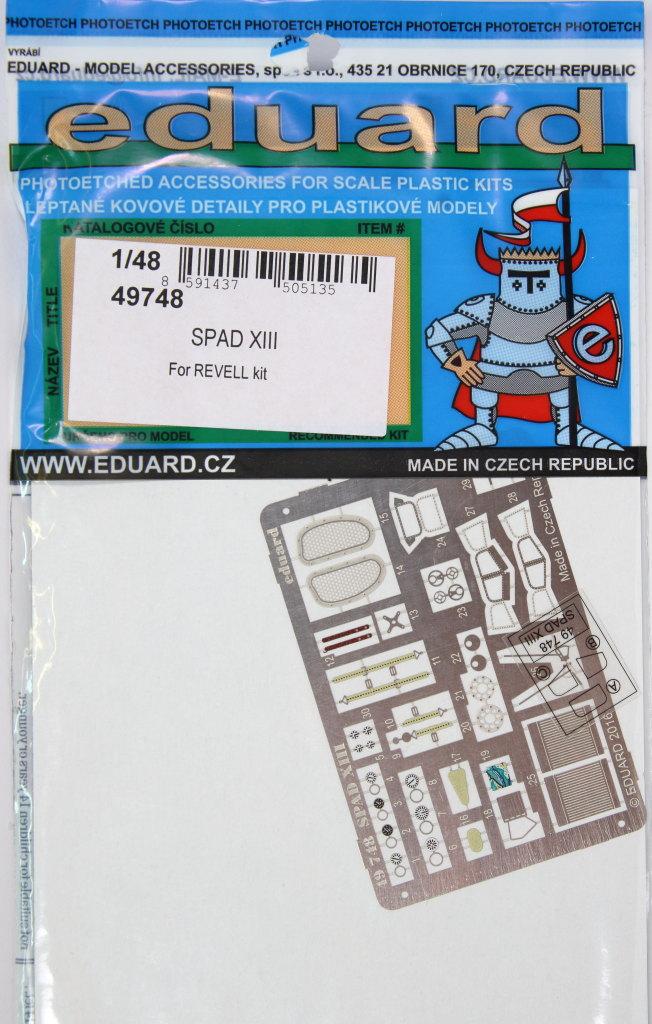 Eduard_Revell-Spad-XIII-Upgrade_01 Eduard - Upgrade Set Revell Spad XIII - 1/48 --- 49748