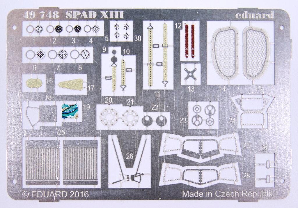 Eduard_Revell-Spad-XIII-Upgrade_04 Eduard - Upgrade Set Revell Spad XIII - 1/48 --- 49748