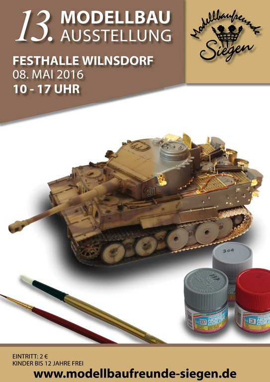 Flyer-Wilnsdorf-2016 13. Modellbauausstellung in Wilnsdorf am 8. Mai