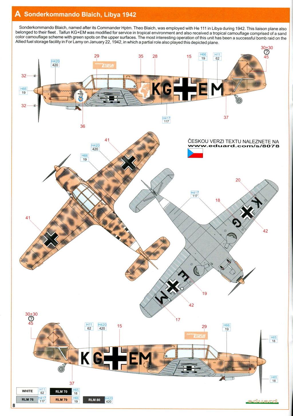 Me-108_Profi_2016_21 Bf 108 - Eduard Profi Pack - 1/48 --- #8078
