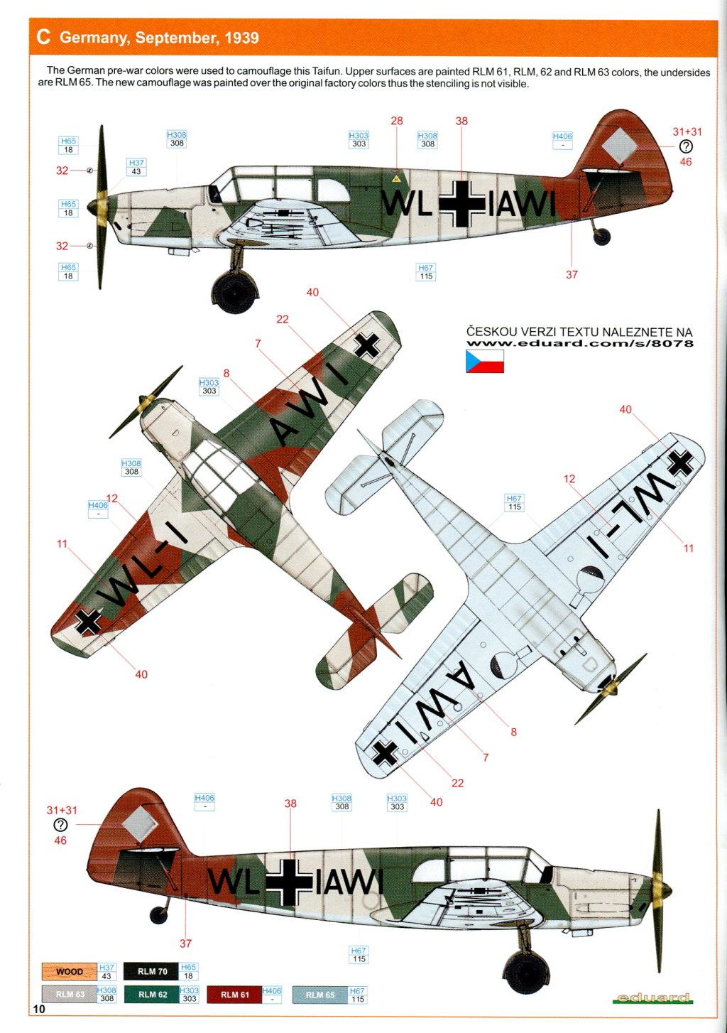 Me-108_Profi_2016_23 Bf 108 - Eduard Profi Pack - 1/48 --- #8078