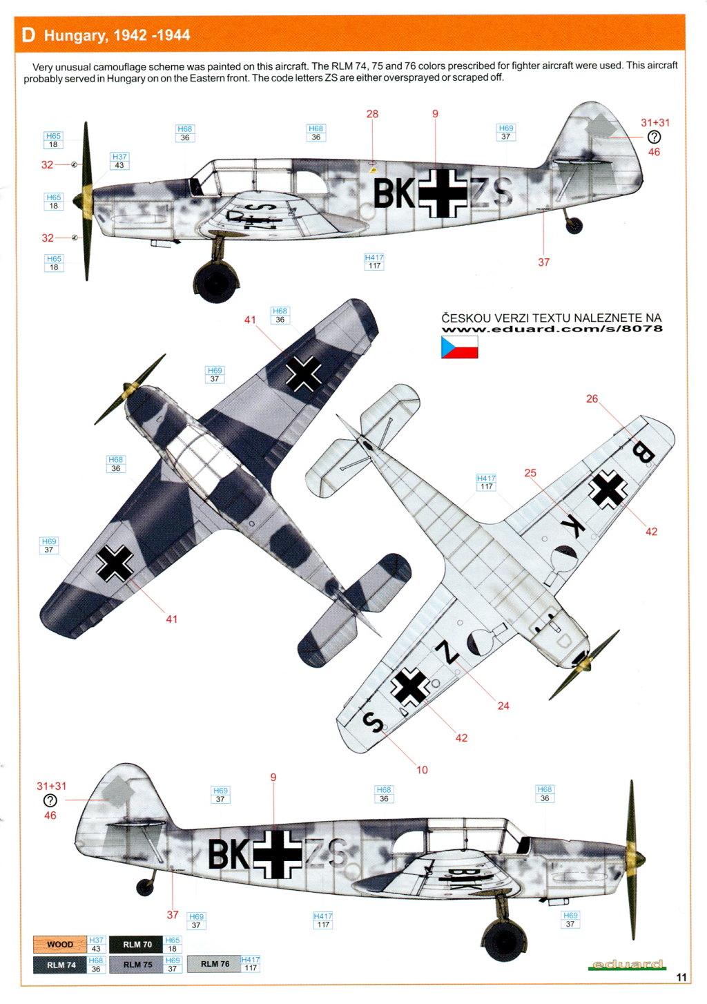 Me-108_Profi_2016_24 Bf 108 - Eduard Profi Pack - 1/48 --- #8078