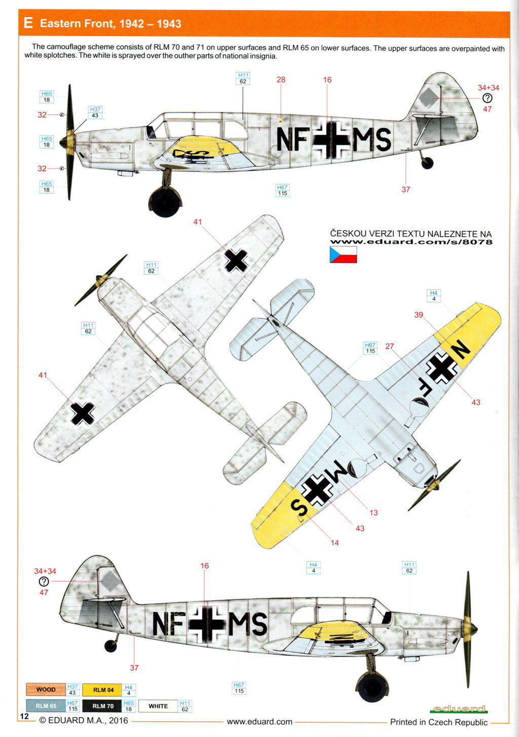 Me-108_Profi_2016_25 Bf 108 - Eduard Profi Pack - 1/48 --- #8078