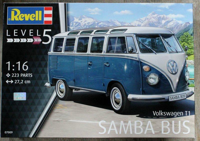 Revell-07009-VW-T1-Samab-1zu16-2 Revell Volkswagen T1 Samba Bus Modell Nr. 07009 in 1:16