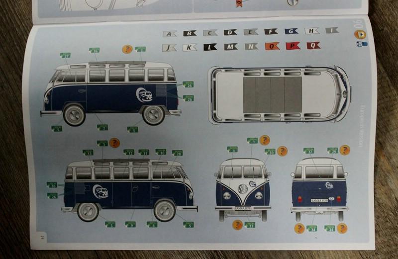 Revell-07009-VW-T1-Samab-1zu16-4 Revell Volkswagen T1 Samba Bus Modell Nr. 07009 in 1:16