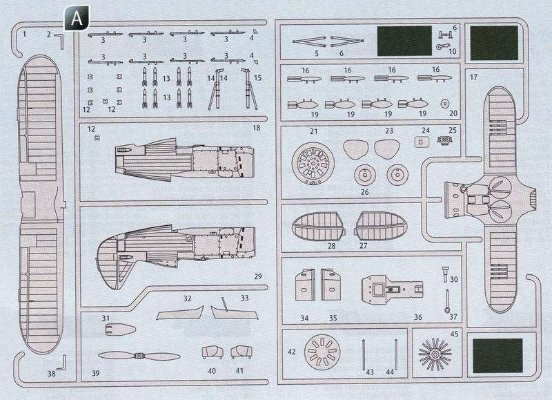 Revell-Polikarpov-I-153-1zu72-Teile-nichtbenötigt Polikarpov I-153 von Revell 1:72