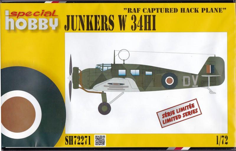 "Special-Hobby-72271-Junkers-W34-Captured-RAF-1 Junkers ""Wellblechkisten"" im Modell - heute: W34 im Dienste der RAF"